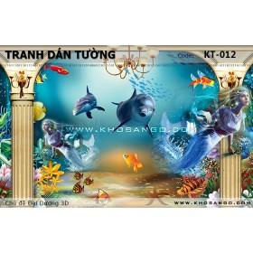Tranh dán tường Đại Dương 3D KT-012