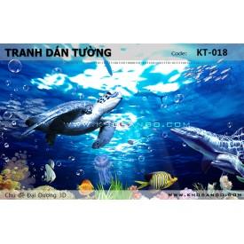 Tranh dán tường Đại Dương 3D KT-018