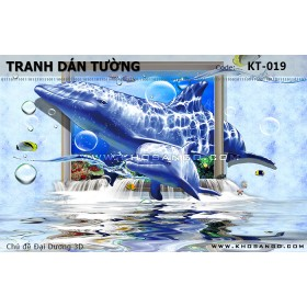 Tranh dán tường Đại Dương 3D KT-019