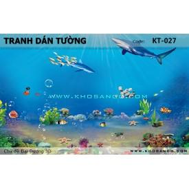 Tranh dán tường Đại Dương 3D KT-027