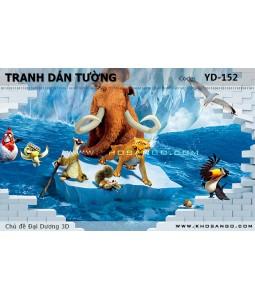Ocean 3D wall paintings YD-152