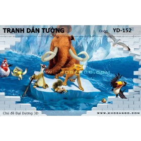 Tranh dán tường Đại Dương 3D YD-152