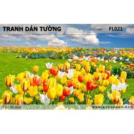 Tranh dán tường Hoa FL021