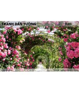 Tranh dán tường Hoa FL03