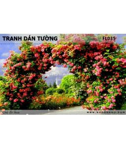 Tranh dán tường Hoa FL035