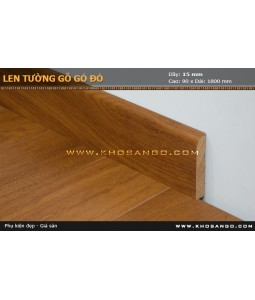 brisk red wood skirting
