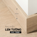 Plastic skirting board 78mm