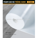 White Rubber Foam Blue 3 mm