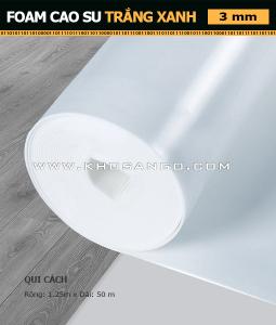 Foam Cao Su Trắng Xanh 3 mm