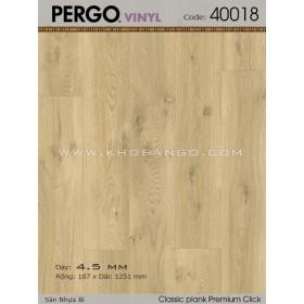 Sàn nhựa Pergo 40018