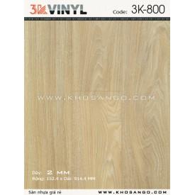 Sàn nhựa 3K Vinyl K800