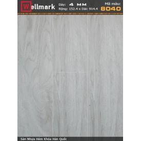 Sàn nhựa hèm khoá Wellmark 8040