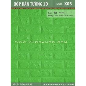 Xốp dán tường 3D X03