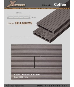 Exwood Decking ED140x25-4 Coffee