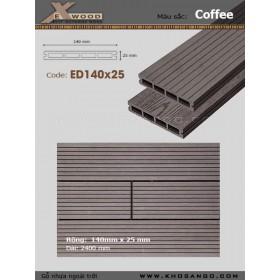 Sàn gỗ Exwood ED140x25-4 Coffee