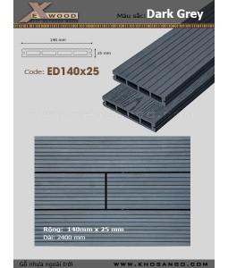 Sàn gỗ Exwood ED140x25-4 Dark Grey