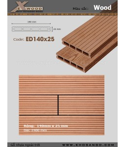 Decking Exwood ED140x25-4 Wood