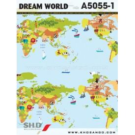 Giấy dán tường Dream World A5055-1