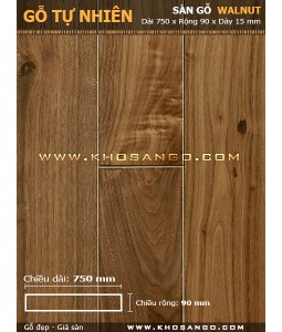 Walnut hardwood flooring 750mm