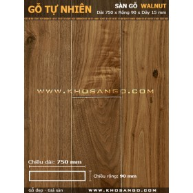 Sàn gỗ  Walnut ( óc chó ) 750mm