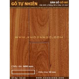 Sàn gỗ gõ đỏ 600mm