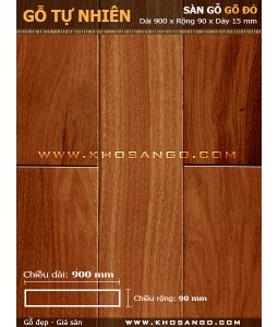Doussie hardwood flooring 900mm