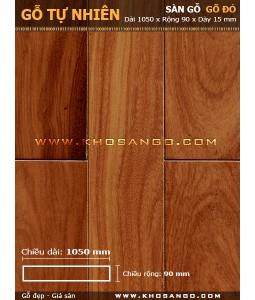Sàn gỗ gõ đỏ 1050mm