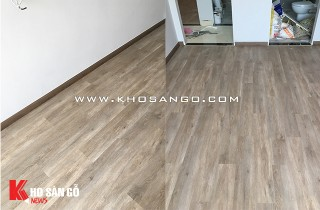 Hoàn thiện công trình sàn nhựa hèm khoá tại Gia Phú- Quận 6