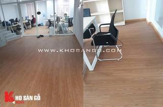 Sàn nhựa Awood SPC lót sàn văn phòng công ty tại khu dân cư City Land