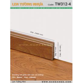 Len Tường nhựa TW312-4