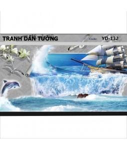 Ocean 3D wall paintings YD-132