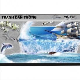 Tranh dán tường Đại Dương 3D YD-132