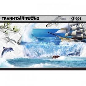 Tranh dán tường Đại Dương 3D KT-003