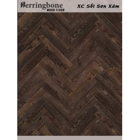 solid oak grey herringbone flooring