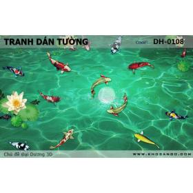 Tranh dán tường Đại Dương 3D DH-0108