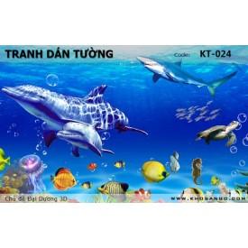 Tranh dán tường Đại Dương 3D KT-024