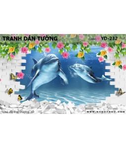Ocean 3D wall paintings YD-232