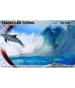 Tranh dán tường Đại Dương 3D 3D-020