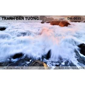 Tranh dán tường Đại Dương 3D DH-0035