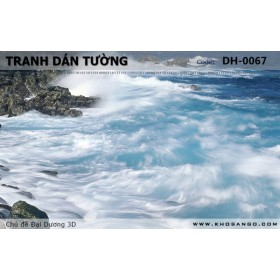 Tranh dán tường Đại Dương 3D DH-0067