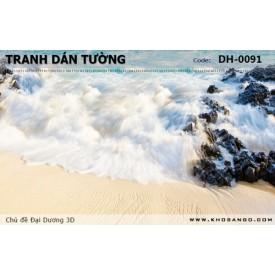Tranh dán tường Đại Dương 3D DH-0091