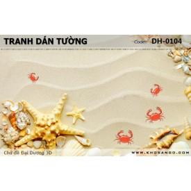 Tranh dán tường Đại Dương 3D DH-0104