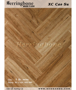 Rubber wood herringbone flooring