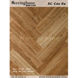 Rubber wood herringbone flooring