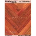 Solid padouk herringbone flooring