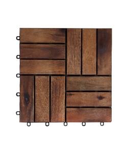Acacia Decking Tiles 12-Brown