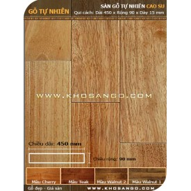 Sàn gỗ cao su 450mm