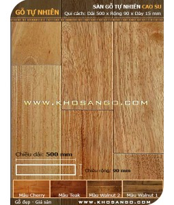 Rubber wood flooring 500mm