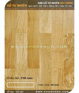 Oak hardwood flooring 750mm