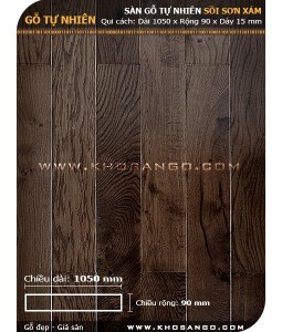 Dark brown Oak  hardwood flooring 1050mm